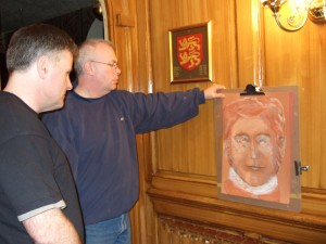 Spirit Art and Stephen Cox Stephen at the Kings Arms Royal Hotel 300x225